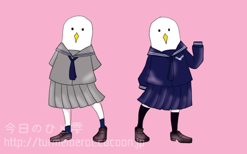 ある学校のセーラー服(夏・冬)